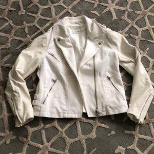 Off white denim club Monaco Moto jacket